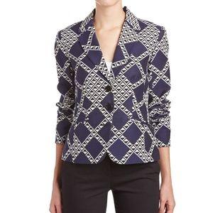 Trina Turk Jackets & Coats - Trina Turk Minty Jacket Blazer Navy Blue White 12